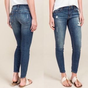 Eunina | Jeans Ava Low Rise Zipper Skinny Ankle